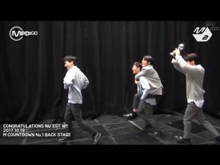 M!Countdown: Первая победа NU'EST W, Backstage () (Рус. саб)