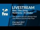 LIVE | FINA/NVC Diving World Series 2017 4 WIndsor | Day 1/Pt.1