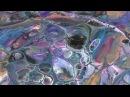 Заливка акрилом 5.Большие ячейки. Медиум Floetrol Силикон.Big cells Floetrol Silicone oil