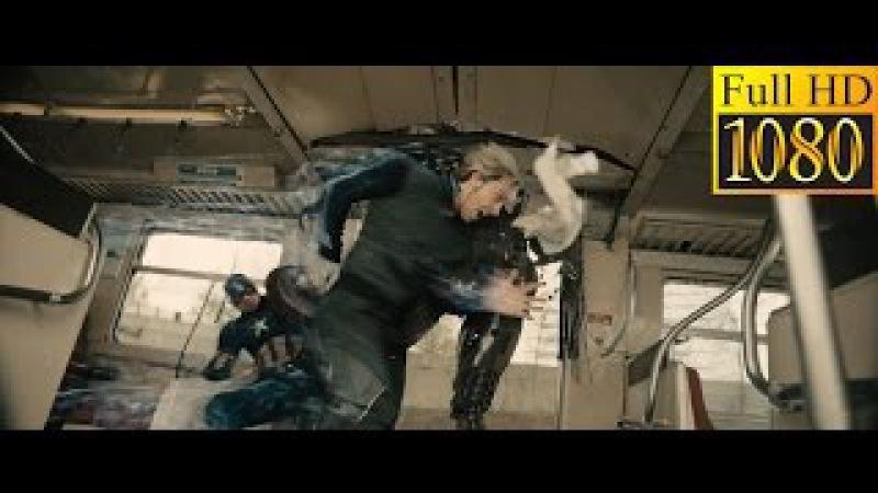 Ванда і П'єтро рятують людей і зупиняють поїзд. Месники: Ера Альтрона 2015 (Full HD)