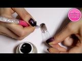 Розовая кисть для ногтей BQAN с крышечкой