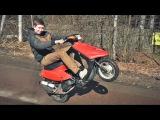 Yamaha Jog валит на китайском глушителе / Тюнинг скутера