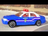 Emergency Vehicles - The Blue Police Car & The Police Chase - Cars & Trucks Cartoons for Children