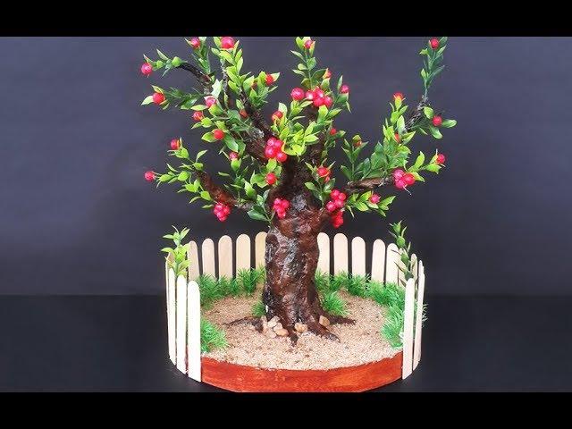 How to Make Newspaper Bonsai Tree | DIY Newspaper Recycling Craft | DIY Home Decor