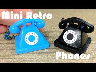 DIY Miniature Old Fashioned Retro Phone