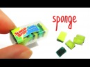 DIY Miniature Sponge for washing dishes