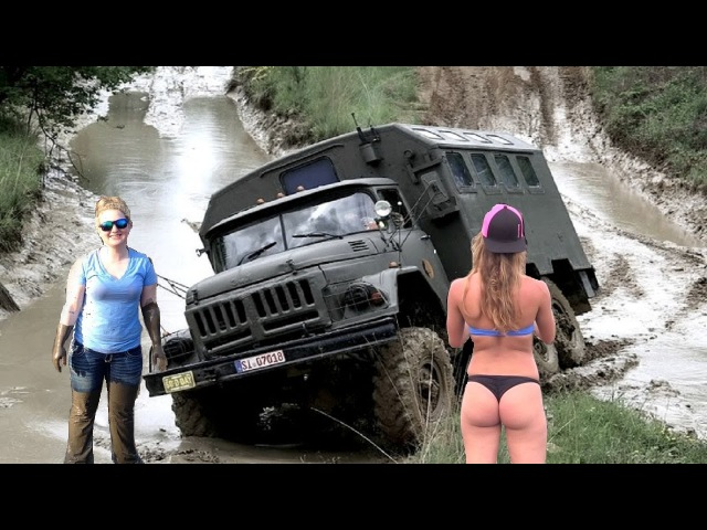 Amazing Truck Skills Driving Stuck in Mud - Heavy Equipment Truck Skill Accident Compilation