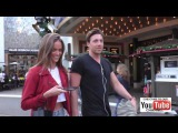 Helen Owen and Zack Kalter from The Bachelor talk about if love at first sight is real while shoppin