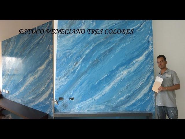 Como aplicar estuco veneciano a tres colores (marmolizado) venetian plaster. (tutorial) 11