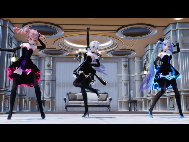 【MMD】「ライアーダンス」 - Miku, Teto, Haku, Gumi, Luka, Neru Liar Dance