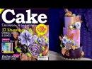 Lavender Copper buttercream flower cake tutorial peek - cover of Cake Decoration Sugarcraft Mag
