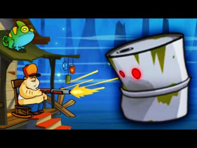 КТО В БОЧКЕ ЖИВЁТ? Детская мультяшная игра АТАКА ЗЛОБНЫХ БОЧЕК НА БОЛОТЕ Swamp Attack