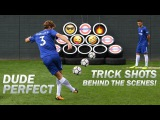 Dude Perfect Trick Shots Exclusive Behind The Scenes with Morata, Alonso, Cahill, Courtois &amp Luiz!