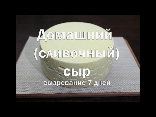 Домашний Крестьянский сливочный сыр вызревание 7 дней, отличный дебют для начинающих сыроделов