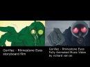 Gorillaz Rhinestone Eyes Storyboard Fan Made animation by richard van as splitscreen