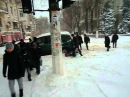 Инкасаторы в снегу Одесса 2016