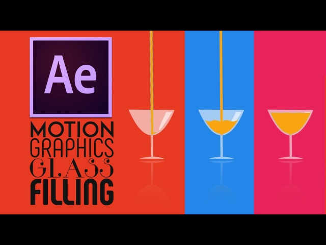 After Effects Tutorial:Motion Graphics Glass Filling Effect || Easy Way