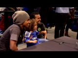 Willian and Pedro were interviewed by some young Blues in the Megastore this week!