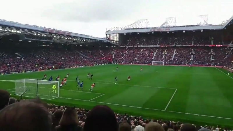 Lukaku's goal vs Everton recorded from the stands