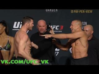 Джордж Сент-Пьер и Майкл Биспинг - Дуэль Взглядов и Взвешивание перед UFC 217