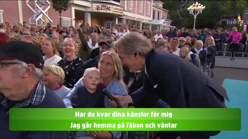 Tomas Ledin Lotta Engberg and the audience Är Du Kär I Mig Ännu Klas Göran Lotta På Liseberg 14 08 2017