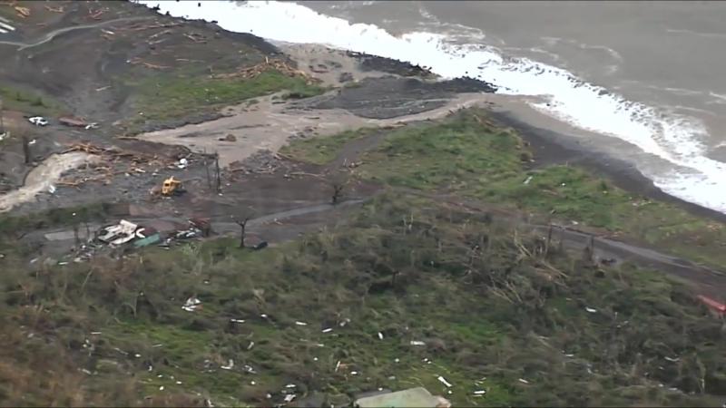 Последствия урагана Мария на острове Доминика