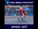 Лучший Бросок 1-го Дня Чемпионата Мира по Греко-Римской Борьбе 2017 среди Кадетов RIWUS