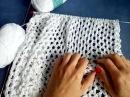 Джемпер ажурный из хлопка Вязание спицами МК часть 1