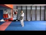 Spinning hook kick - Sam Paek Yuk Sip Do E Dan Yup Hu Ryo Cha Ki