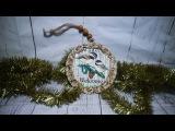 #52 DECOUPAGE CHRISTMAS ORNAMENTS CHRISTMAS BALLS BOMBKA DECOUPAGE TUTORIAL HANDMADE