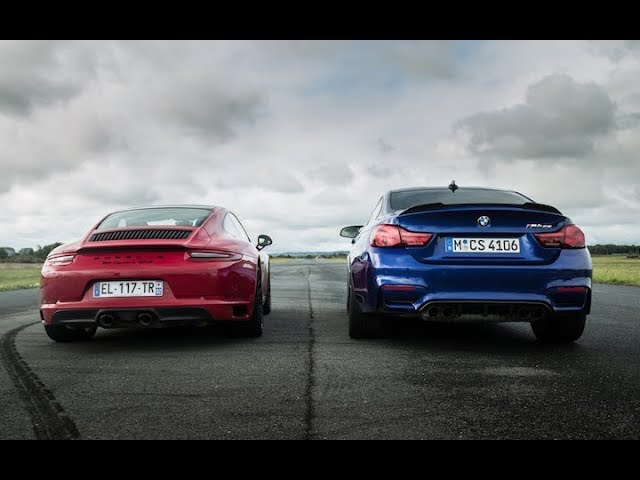 BMW M4 CS VS 911 Carrera GTS - Drag Race