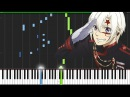 14th Melody - D.Gray Man Piano Tutorial Synthesia Knight Pianist ChacelX