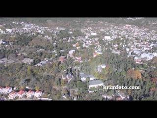 Воронцовский дворец Алупка ЮБК Крым 2015 часть 3 Осень с высоты птичьего полета