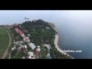 Утес возле Партенита мыс Плака дворец княгини Гагариной с высоты птичьего полета