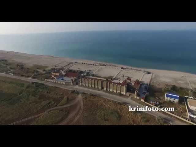 Беляус возле села Знаменское Черноморский район Крым с высоты птичьего полета