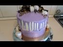 Торт Молочная девочка! Покрытие торта гляссажем!