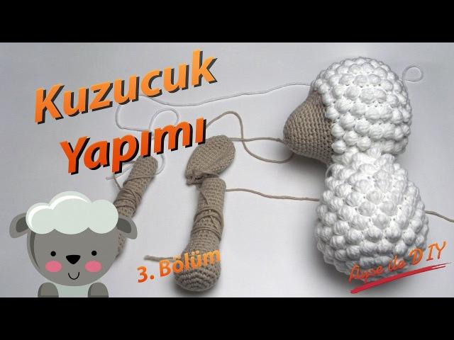 Amigurumi Kuzu Nasıl Yapılır 3.Bölüm 🐑 - Pıtırcıklı Kuzucuk Gövde Yapımı 34