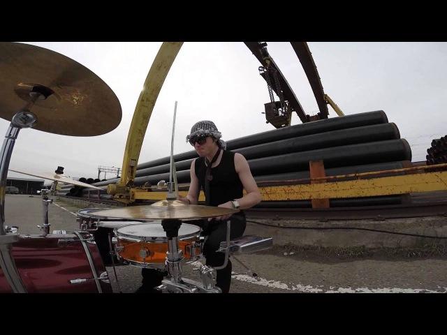 Flanger Drummer - touch me(feat. Dmitry Redko) (уличный барабанщик)