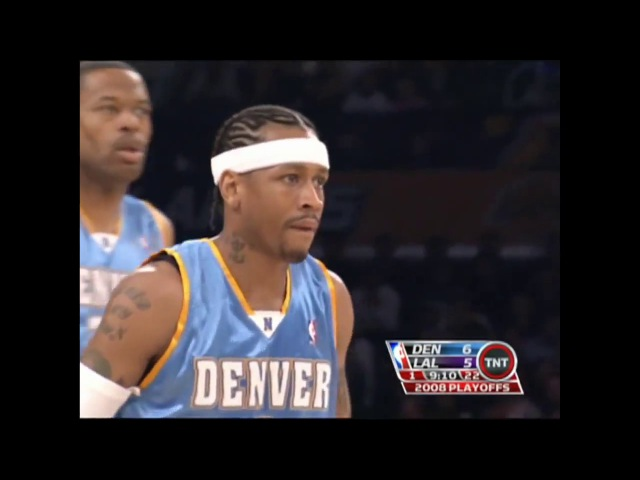 NBA 2008 Playoffs R1 Game 2 Nuggets @ Lakers (Kobe 49 PTS vs Iverson 31 PTS)
