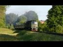2М62У-0289 с дизель-поездом ДР1А-222 / ДР1А-194 на перегоне Давыдов - Сихов