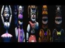 FNAF Dungeons 3 All Jumpscares Animatronics Sister Location