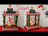 DIY Recycled Newspaper Temple at home Ganesh MandapGanpati Makhar Making MandirNewspaper carft