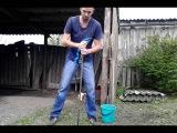 Как забить металлический штырь или вертикальный заземлитель в землю без кувалды