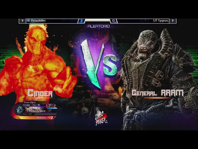 Killer Instinct Ultra Tournament - Santopotter (Cinder) vs TopoMaligno (General Raam, Tusk)