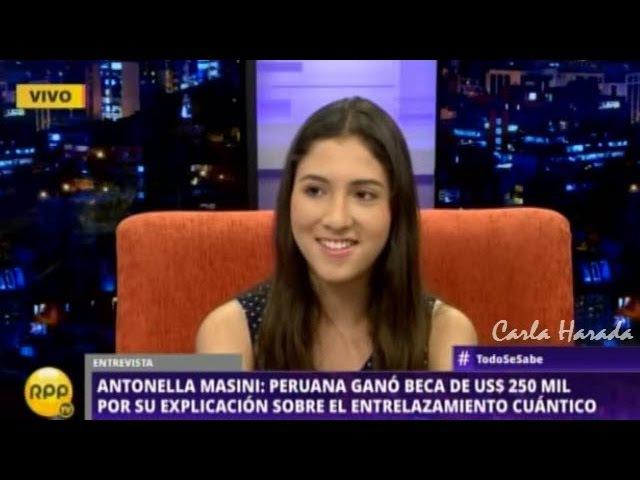 Peruana Antonella Masini gana beca de US$ 250000 por su explicación del entrelazamiento cuántico