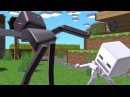 Black White Epic Twerk Battle Enderman Vs Sceleton Mr. Dudec Mincraft Animation MMD