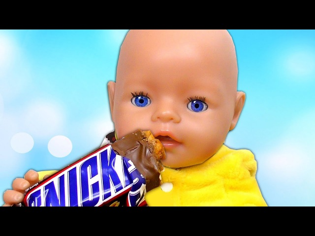 BAD BABY Born Doll Steals Chocolate CANDY learn colors Baby Song Johny Johny Yes Papa Nursery Rhymes