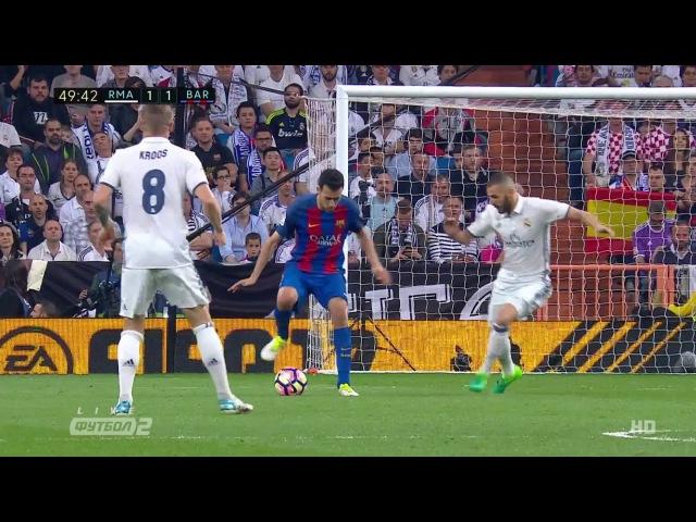 Sergio Busquets Vs Real Madrid - Dominating The Field - 23.4.2017 - HD