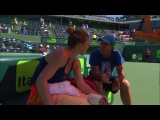 On-Court Coaching Simona Halep and Darren Cahill (2017 Miami Open Quarterfinals)
