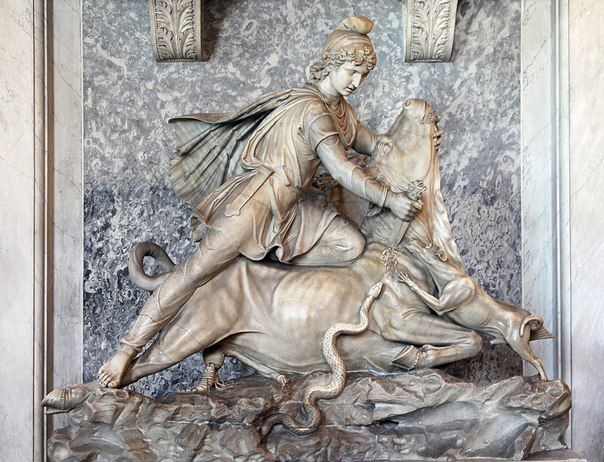 Митра, приносящий в жертву быка, Ватиканские музеи
